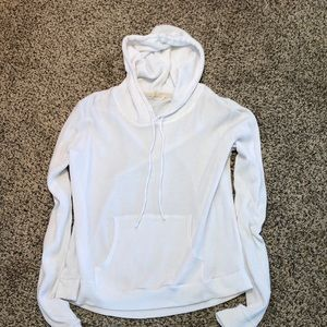Tops - White hooded shirt